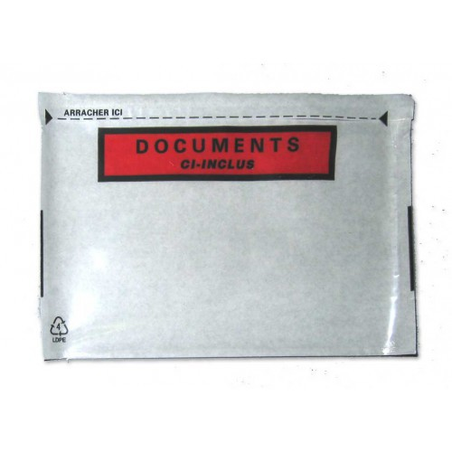 POCH ADHESIVE 160X110MM DOCUMENTS