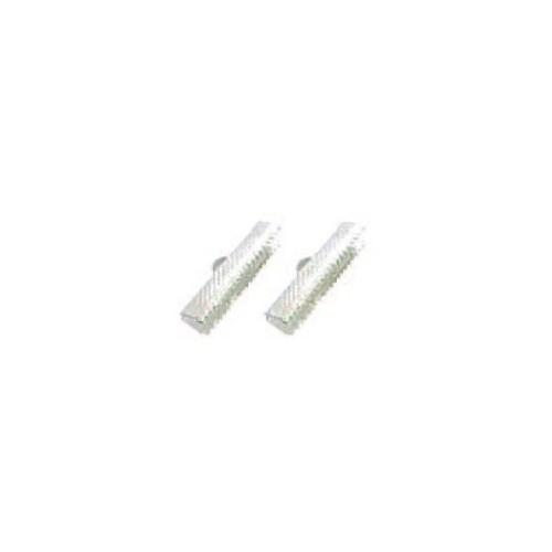 FERMOIR PLAT X 10 25X6MM ARGENT