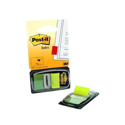 CARTE 50 MARQUE PAGE POST IT JAUNE