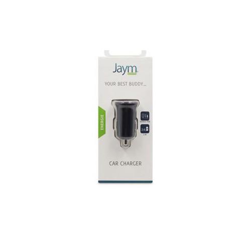 CHARGEUR VOITURE JAYM 2 USB 2,4A NOIR