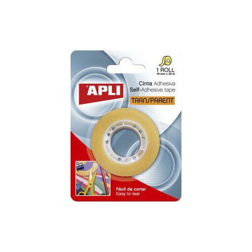 BLISTER 1 ADHESIF TRANSPARENT 19MMX33M