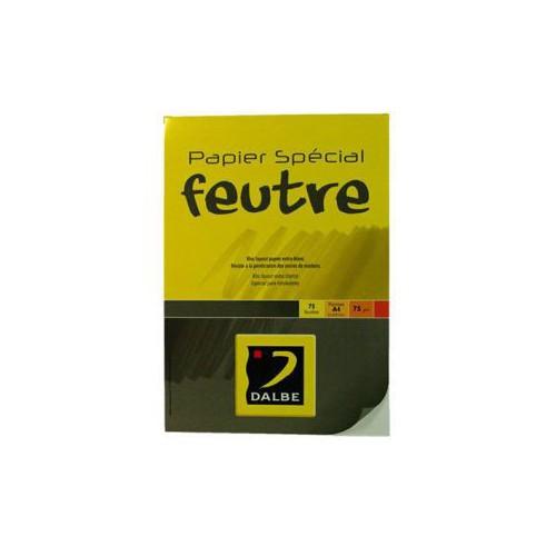 BLOC DESSIN A4 75G DALBE FEUTRE 75F