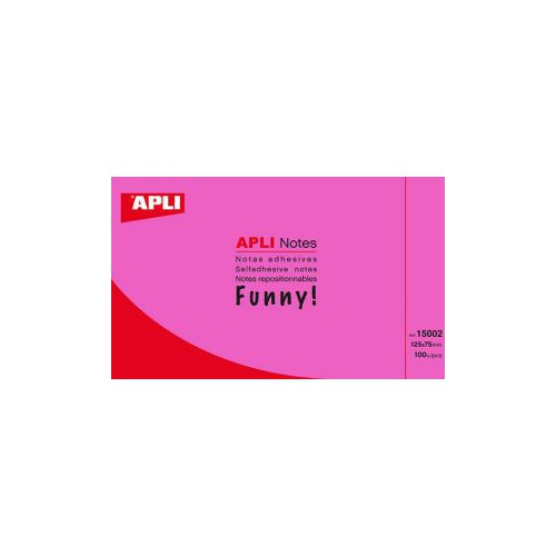 BLOC 100 POST IT NOTES 75X125MM ROSE VIF
