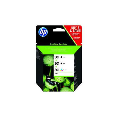PACK 3 CARTOUCHES JET ENCRE HP 301