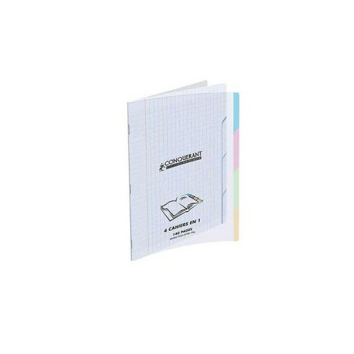 CAHIER PIQURE 17X22 140P 4 ONGLETS SEYES