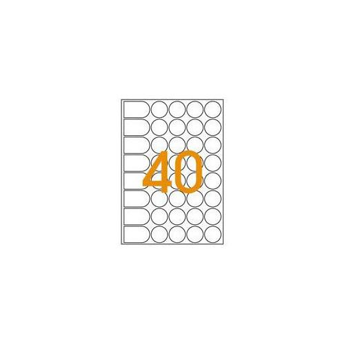 ETIQUETTE A5 X 400 DIAM24MM BLEU