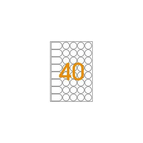 ETIQUETTE A5 DIAM24MM ROUGE