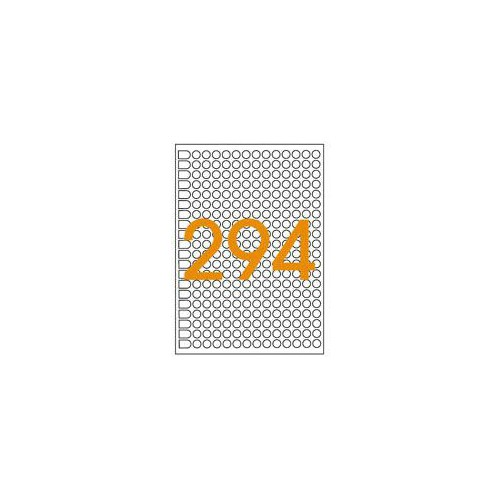 ETIQUETTE A5 X 2940 DIAM8MM JAUNE