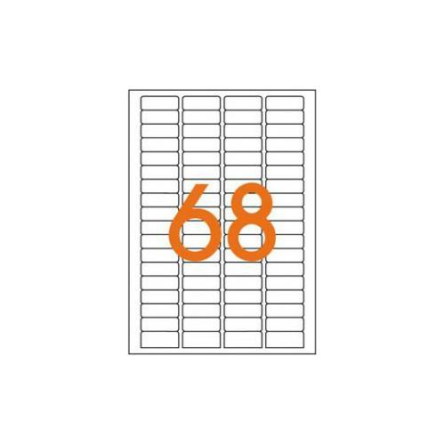 ETIQUETTE A5 X 1088 11X30MM BLANC
