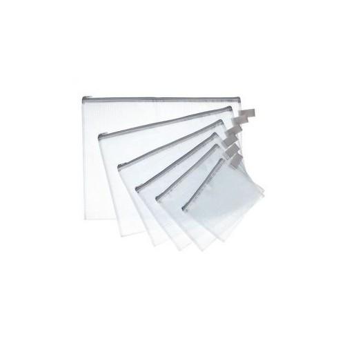 POCHETTE ZIP 13X17CM PVC RENFORCE