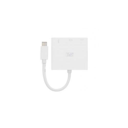 CABLE TYPE C VERS HDMI 3 EN 1 TNB BLANC
