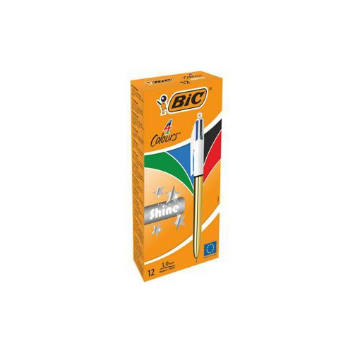STYLO BILLE 4 COULEURS SHINE 1MM OR