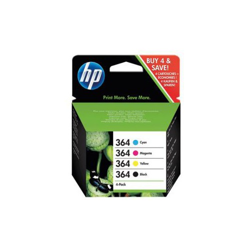 PACK 4 CARTOUCHES JET ENCRE HP 364
