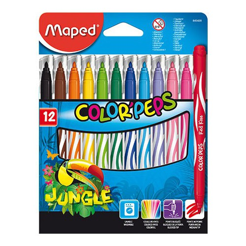 FEUTRE COLORIAGE JUNGLE COLOR PEPS