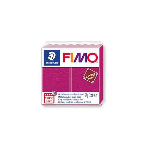 PATE FIMO EFFET CUIR 57G ROSE