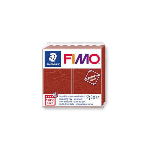 PATE FIMO EFFET CUIR 57G ROUILLE