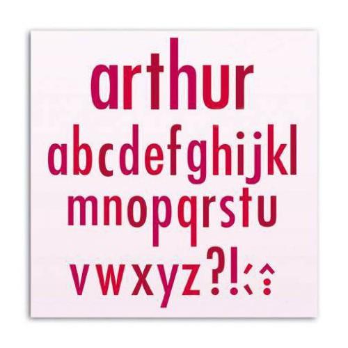 SET 10 D'COS 5X5CM ALPHABET ARTHUR