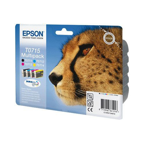 PACK 4 CARTOUCHES JET ENCRE EPSON T0715