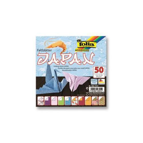 ORIGAMI X 50F PAPIER 15X15CM JAPAN