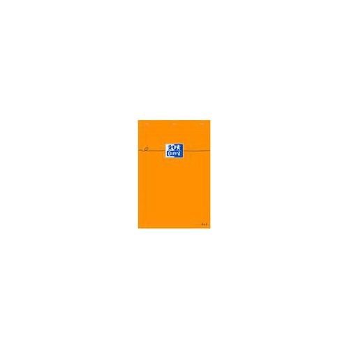 BLOC NOTES 7X10 160P ORANGE Q5X5 80G