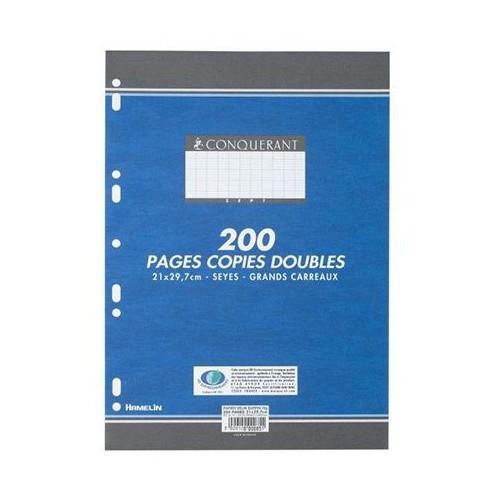 PAQUET 200 COPIES DOUBLES A4 SEYES BLANC