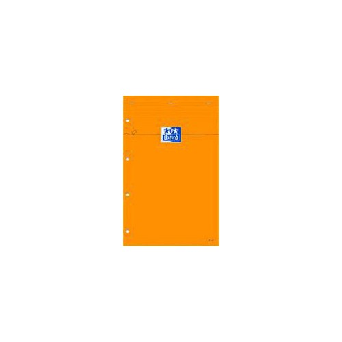 BLOC NOTES 21X31 160P ORANGE LIGNE L8