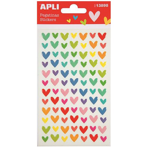 STICKERS COEURS COLORES