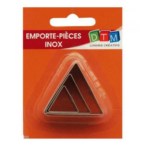 EMPORTE PIECE X 3 TRIANGLES INOX