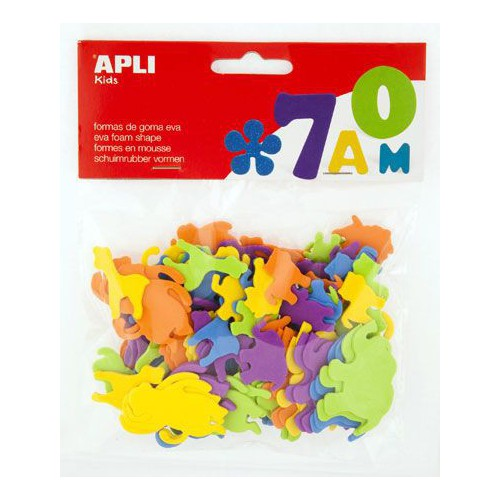 BLISTER 100 FORMES MOUSSE ANIMAUX