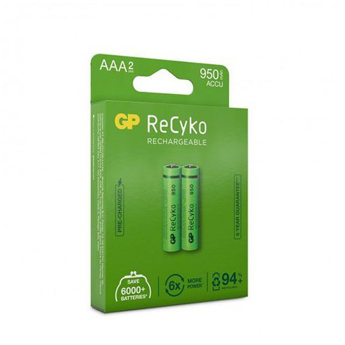 BLISTER 2 PILES RECHARGEABLE GP RECYKO