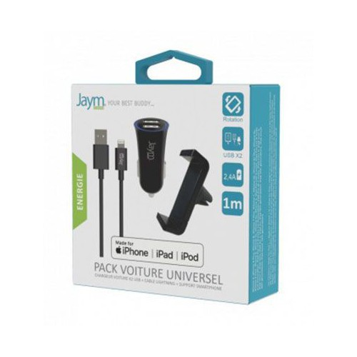 PACK VOITURE APPLE SUPPORT + CAC X2