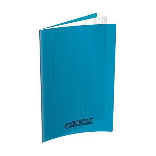 CAHIER PIQURE 24X32 96P SEYES TURQUOISE