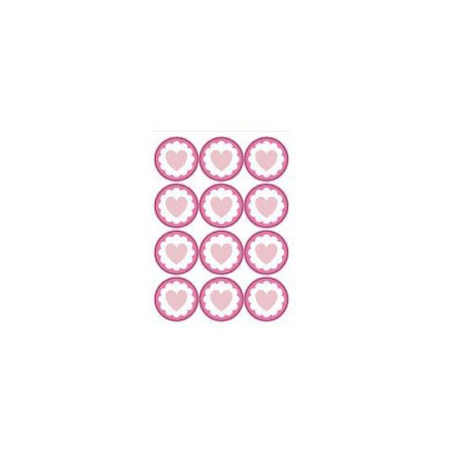 STICKERS X 48 PARTY ROSE