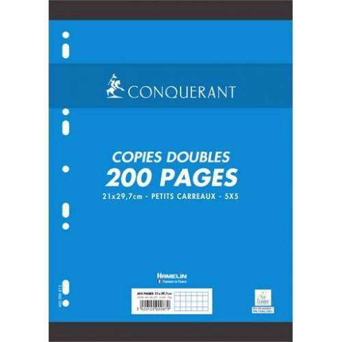 PAQUET 200 PAGES COPIES DOUBLES A4 Q5X5