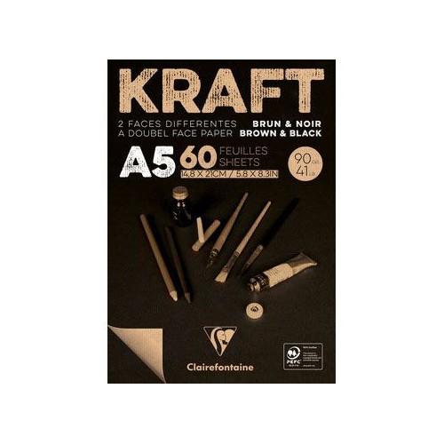 BLOC 60F KRAFT 2 FACES 148X210MM