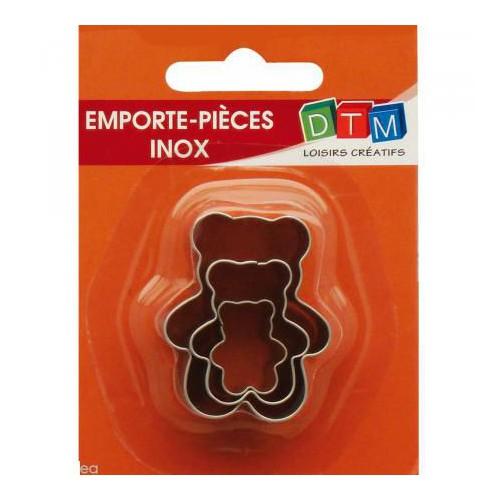 EMPORTE PIECE X 3 OURSONS INOX