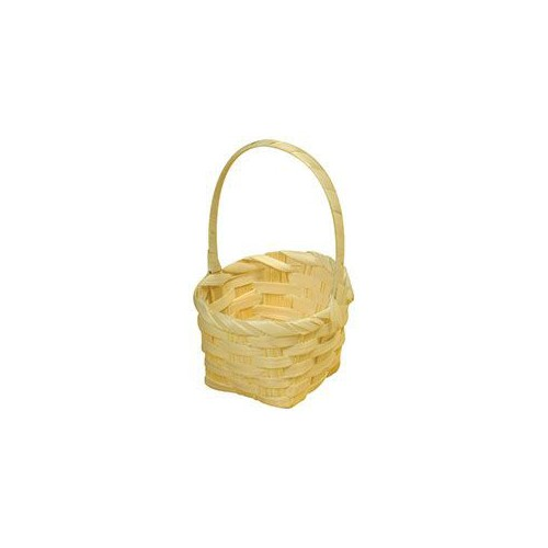 SUPPORT BOIS PANIER CARRE BAMBOU
