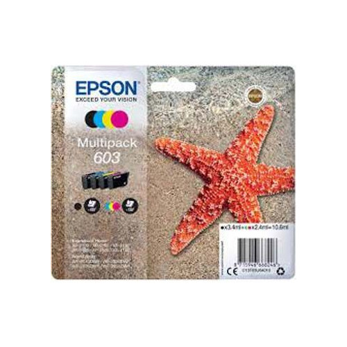 PACK 4 CARTOUCHES JET ENCRE EPSON 603