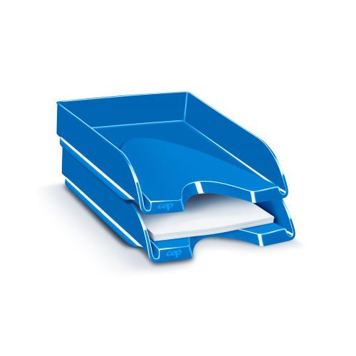 CORBEILLE COURRIER CEPPRO GLOSS BLEU
