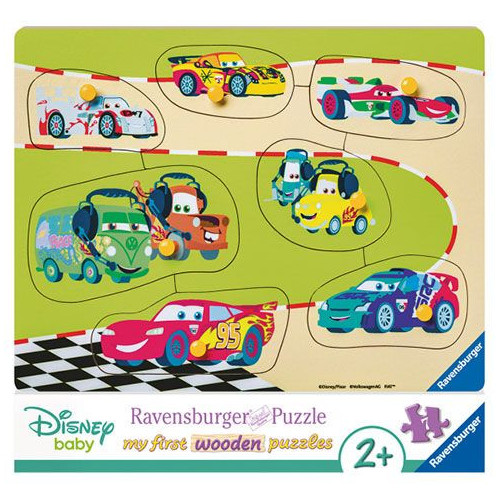 PUZZLE 7PCES MY FIRST WOODEN EQUIPE CARS