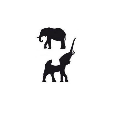 POCHOIR ADHESIF 7X10CM ELEPHANT