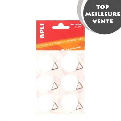 SAC 12 ACCROCHES CADRE AUTO ADHESIF