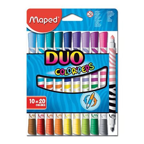FEUTRES COLORIAGE PEPS DUO LONG LIFE