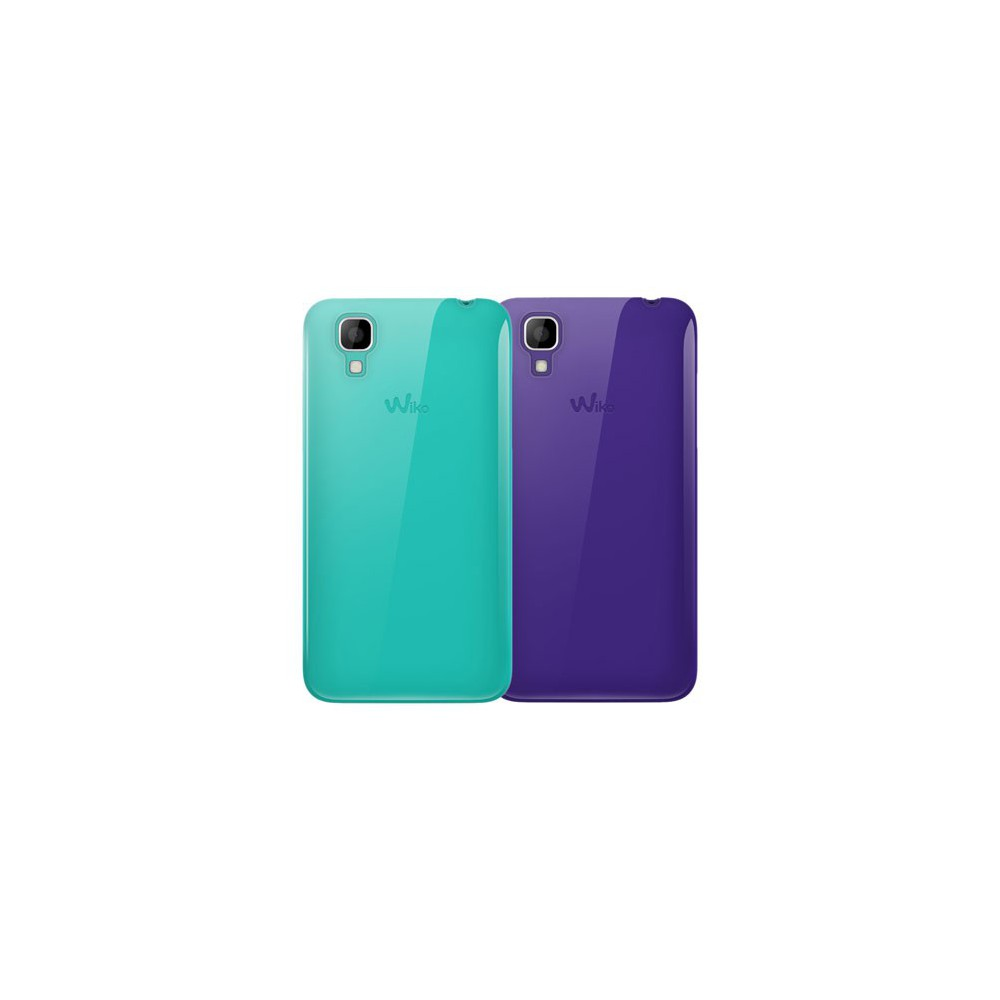 Lot 2 Coques Wiko Sunset Violet Turquois Magasin Papeterie Nouma Loading Zoom