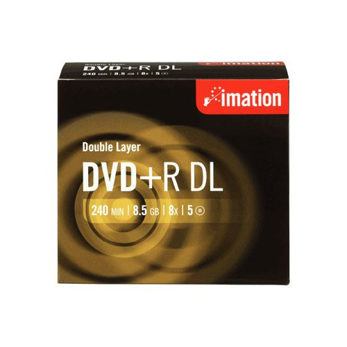 PACK 5 DVD+R 240MN 8.5GO 8X IMATION 5PK